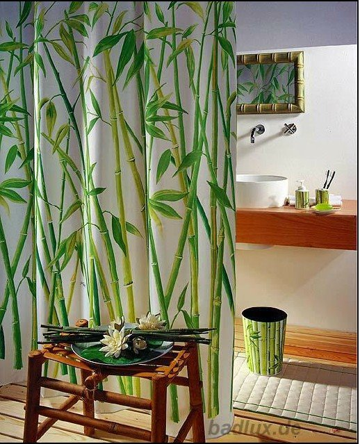 Bamboo kitchen curtains