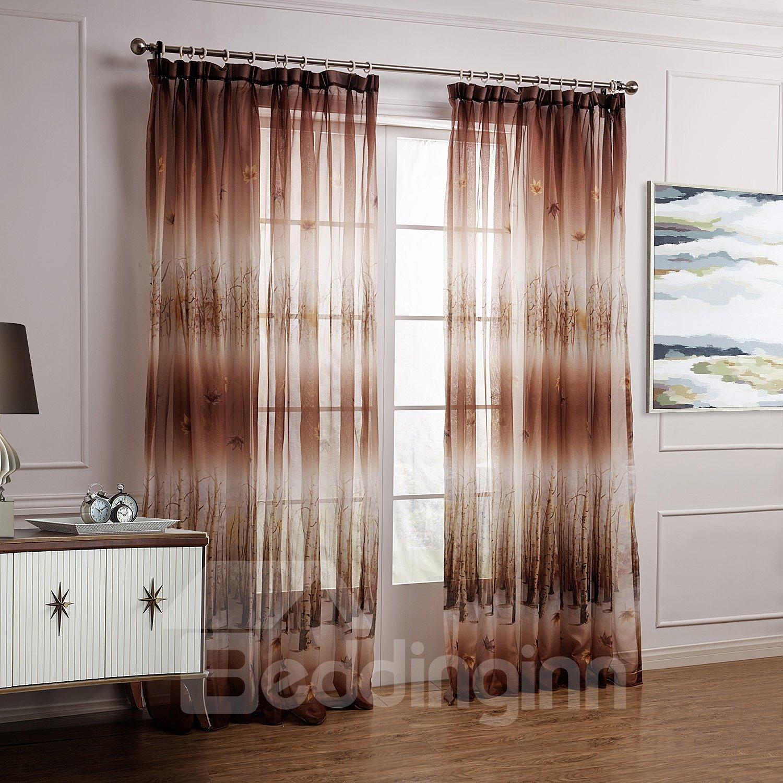 Brown sheer curtains 2
