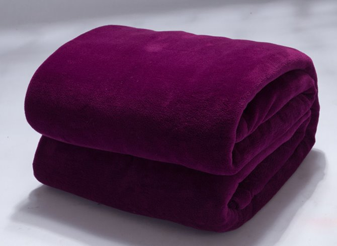 Gorgeous Deep Purple Flannel Adult Blanket