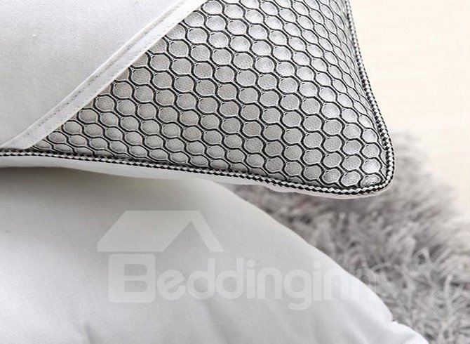 Exquisite Grey Bed Pillow with Lavender Ingredients