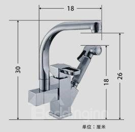 Single Handle Pure Cooper Rotatable Kitchen Faucet  (10486942)