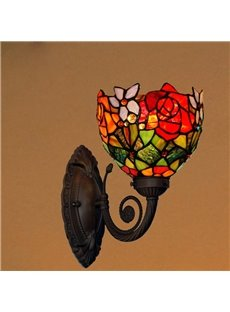 Novelty Cute Male and Female Parrot Tiffany Wall Lights with 1 Light