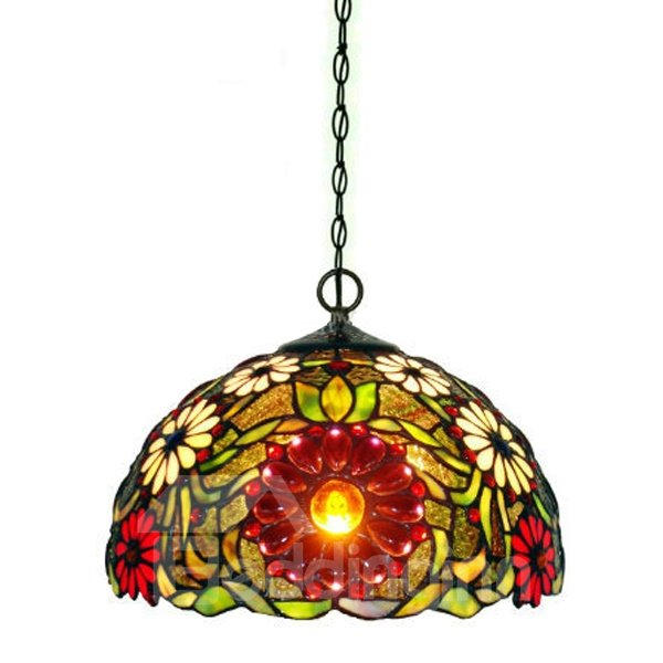 Pastoral Novelty Tiffany Sunflower Pattern Table Lamp