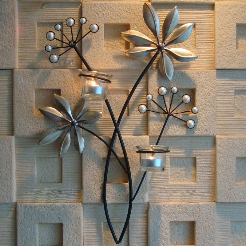 Leaf Shape Retro Wall Hanging Candle Holders Beddinginn Com