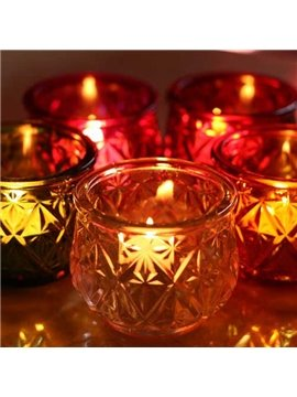 Innovation Candle Holders With Six Transparent Colors