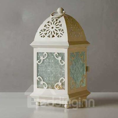 Mediterranean Romantic Wrought Iron Candle Holders