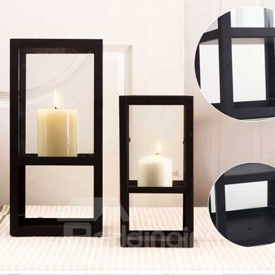 Square Wrought Iron Candle Holders