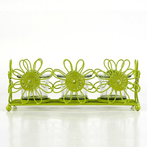 Modern Spring Glass Candle Holders