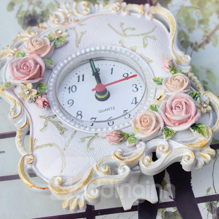Pink Rustic Alarm Clock Home Décor