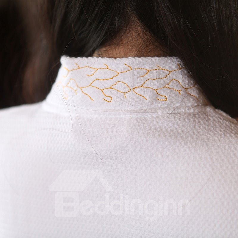 100% Soft Durable Egyptian Cotton Double waffle Thicken Bathrobe