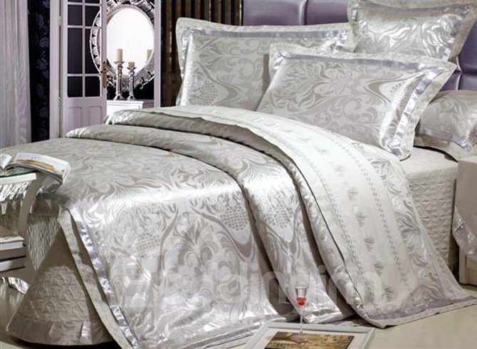 Stylish Classic Decorative Pattern Grey 6 Piece Comfortable Bedding Sets (10489748)