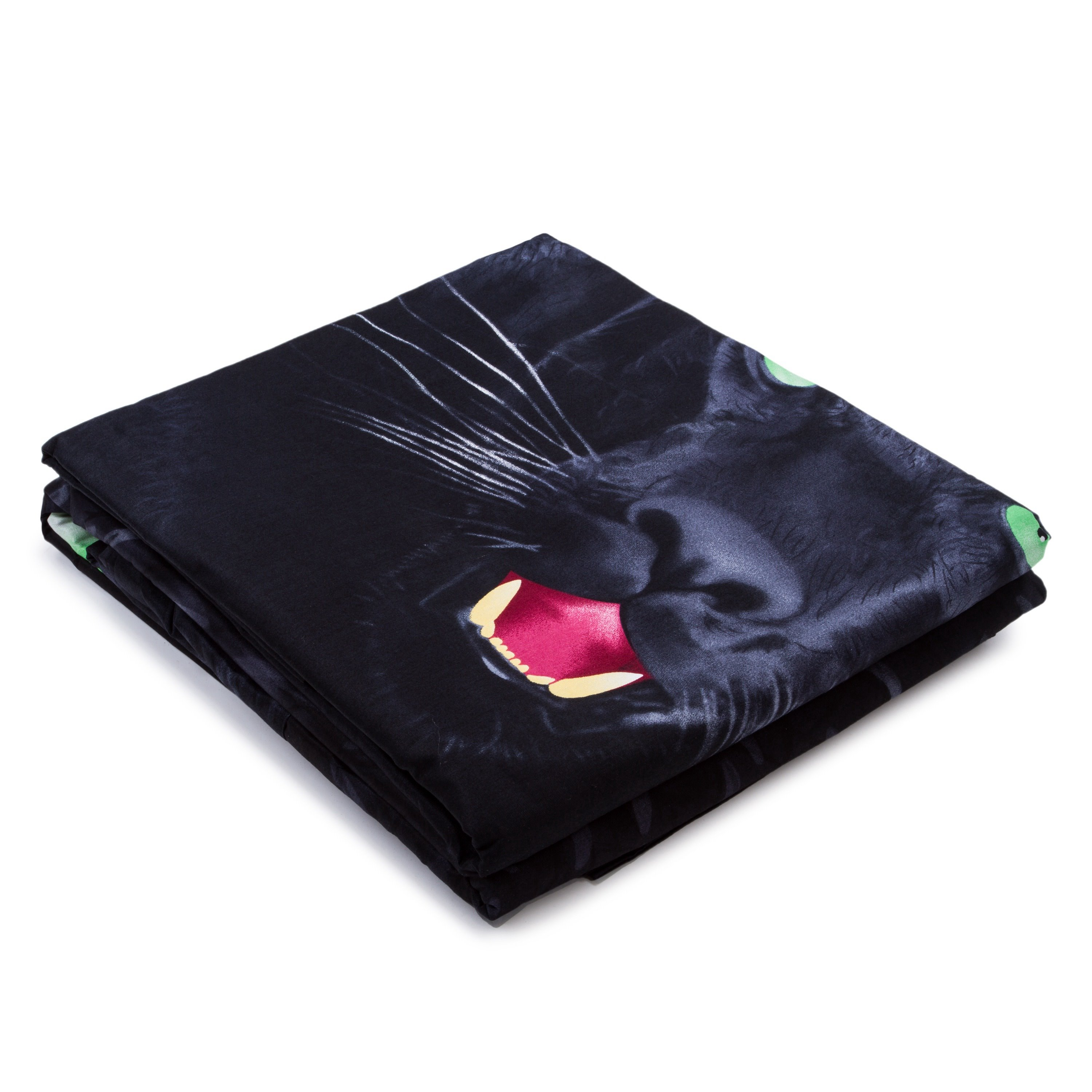 3D Black Panther Printed Cotton 4-Piece Bedding Sets/Duvet Covers
