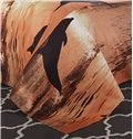 Dolphin in the Setting Sun Cotton 4-Piece Bedding Sets