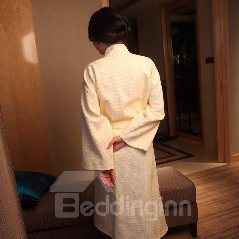 100% Cotton Waffle Comfortable Kimono Style Bathrobe