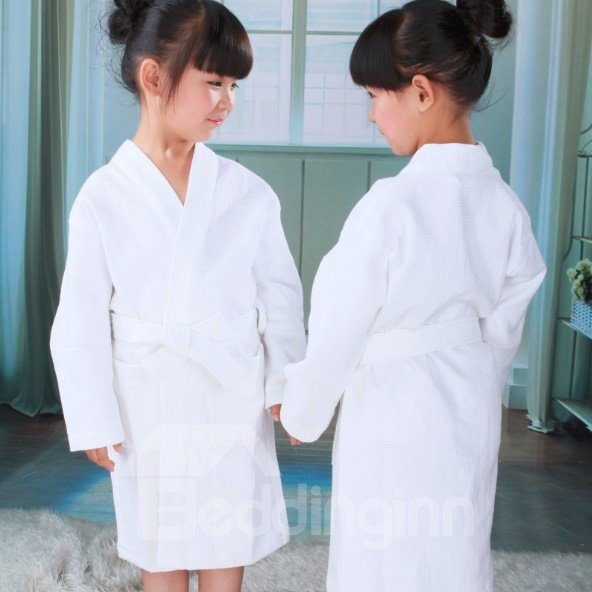 Egyptian Cotton Waffle Bathrobe Full Size for Boy and Girl