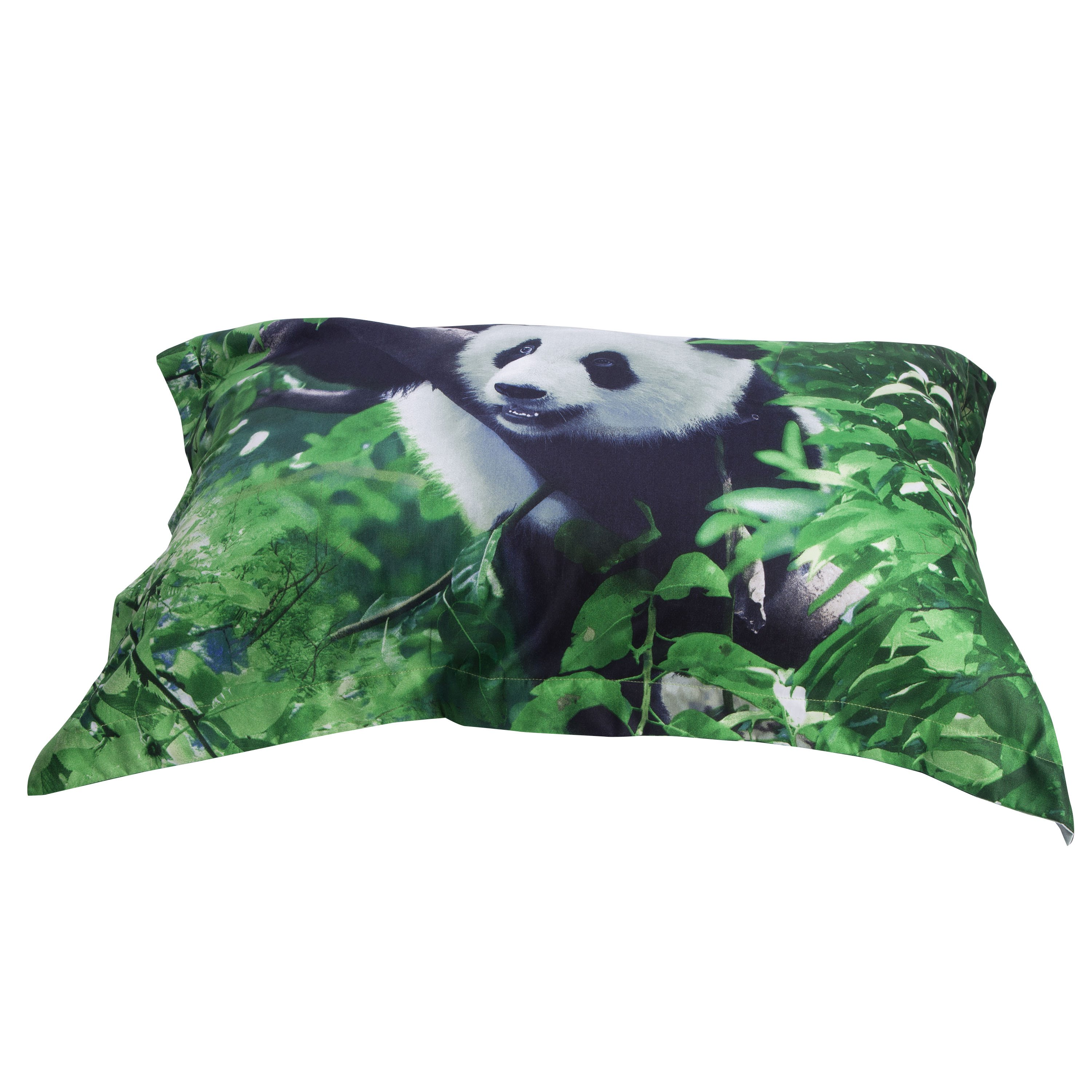 3D Panda Climbing Tree Printed Cotton 4-Piece Green Bedding Sets/Duvet Covers
