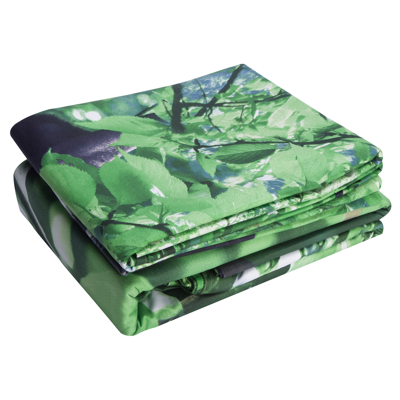 Cotton Reactive Printing Panda Tree Green 4 Piece Bedding Sets