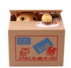 Creative Super Cute Stealing Money Kitten Piggy banks Saving pot