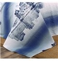 100% Cotton Night city scene duvet cover 4 piece Bedding sets