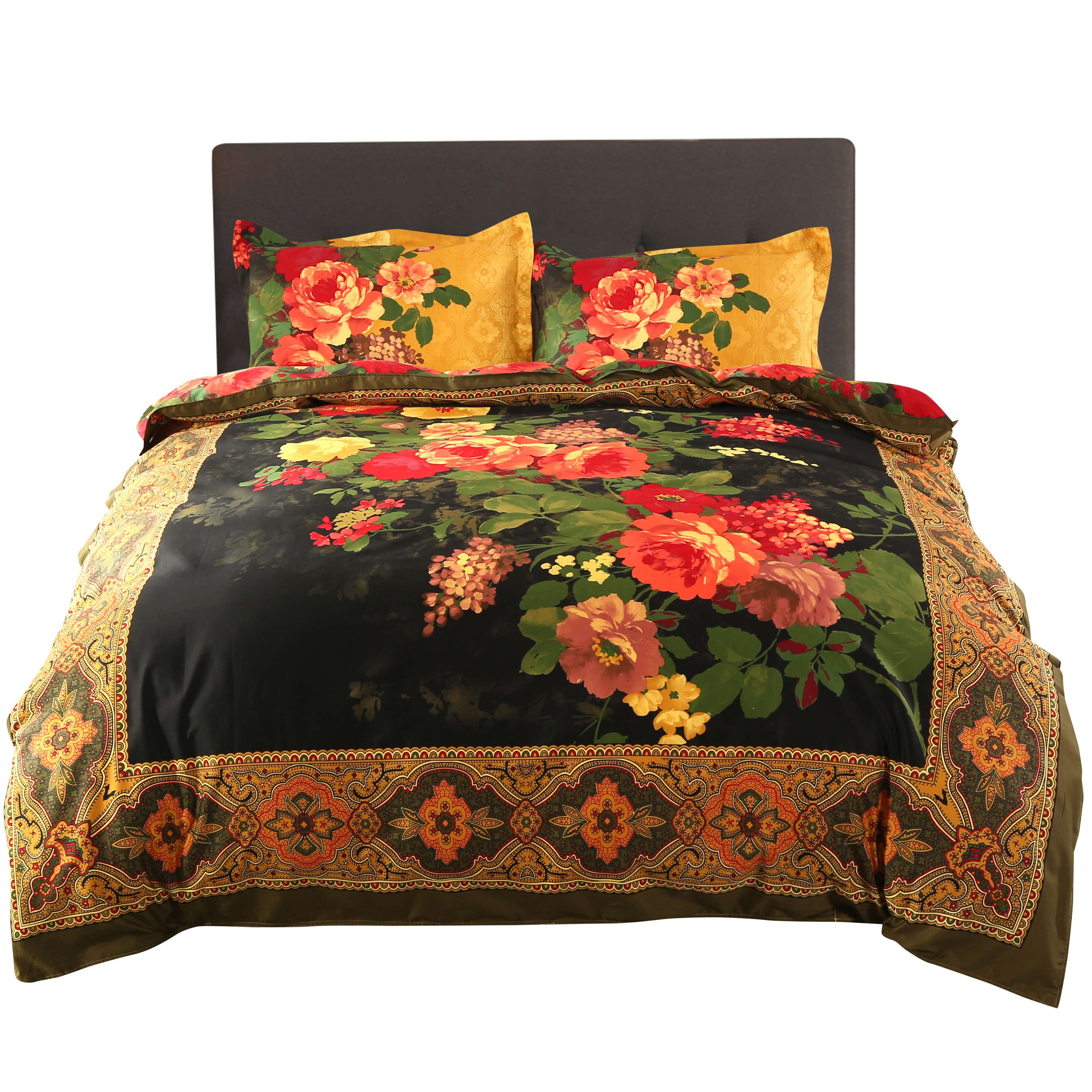 Painting | Bedding | Peony | Retro | Paint | Cover | Oil | Bed | 3D