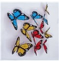 Vivid Colorful Butterfly 3D Printed 4-Piece Cotton Duvet Cover Sets