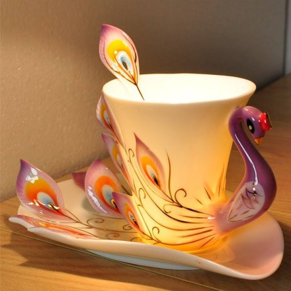 New Arrival Gift for friends and Relatives With This Peacock Coffee Cup