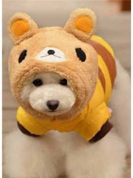 New Arrival Super Cute Bear Style with Pretty Hat Soft Dog Clothing
