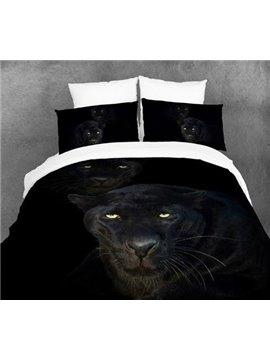 August Black Panther Print 4 Piece Bedding Sets/Duvet Duvet Cover Sets