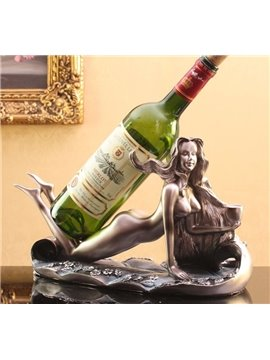 Beauty Human Body Art Design Wine Rack with Resin Material