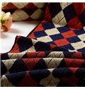 Free Shipping High Class 100% Cotton Plaid Face & Hand Towel