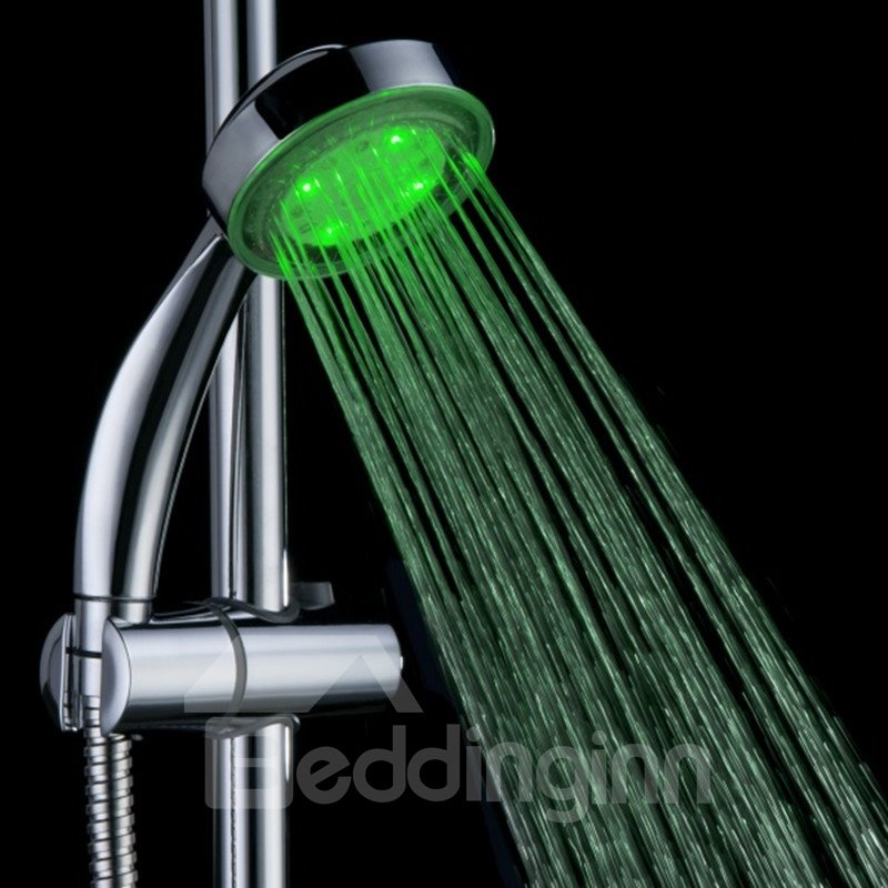 High Quality LED Rainfall Shower Head Faucet Changing Colors by Temperature