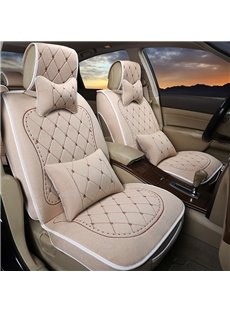 Elegant Luxurious Embroidered Soft Fashion Universal Five Car Seat Covers