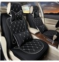 Luxurious Elegant Design Embroidered Patterns Soft Universal Car Seat Covers Set