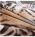 3D Leopard Animal Printed Cotton 4-Piece Bedding Sets/Duvet Covers
