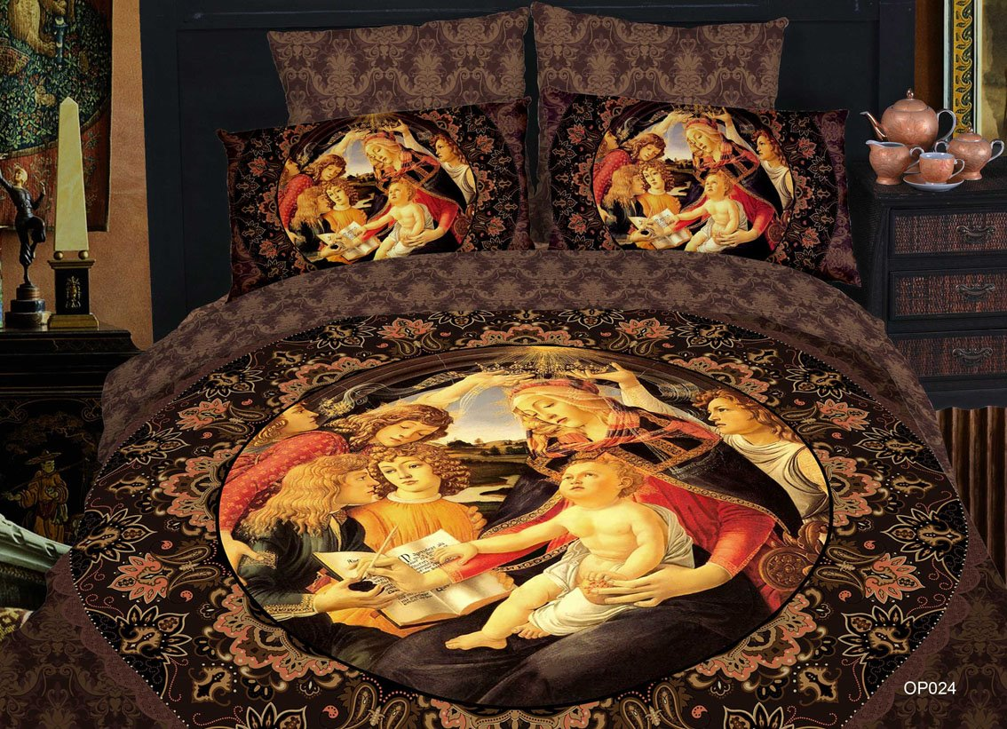 New Arrival Elegant Famous Painting  Print 4 Piece Bedding Sets/Duvet Cover Sets