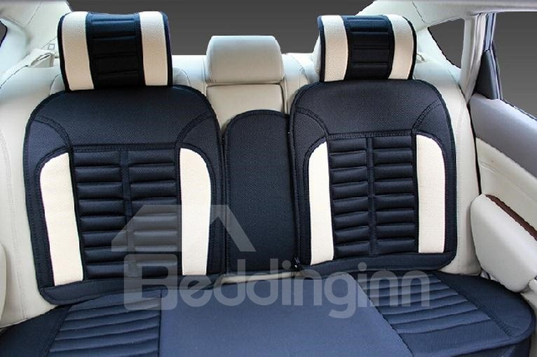 Special Design And Luxury Contrast Color Print Car Seat Covers