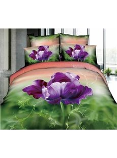 3D100% Cotton Alone Blooming 4 Piece Bedding Sets