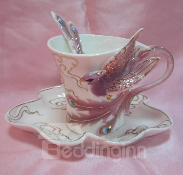 New Arrival Porcelain Gorgeous Phoenix Coffee Cup
