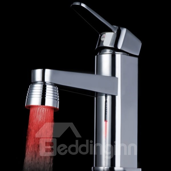 Contemporary Three Color Changing by Temperature for Kitchen/Bathroom Faucet Head
