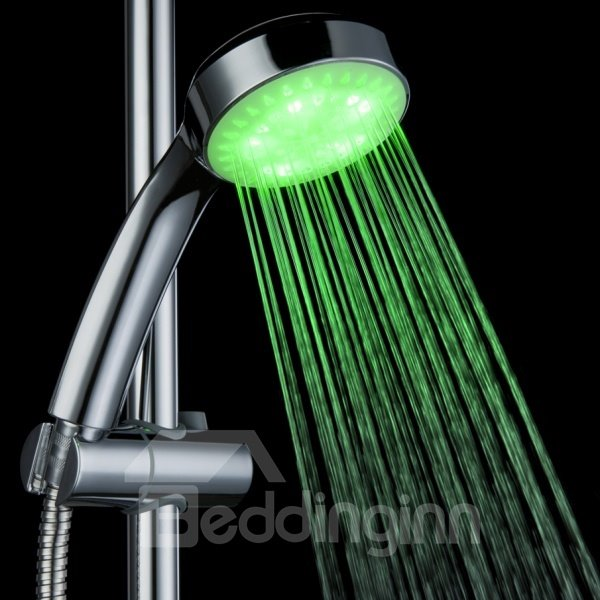 High Quality Three Color Changing by Temperature Head Shower