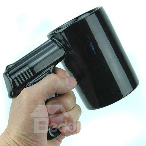 Image For Creative Black Ceramic Gun Handle Coffee Cup