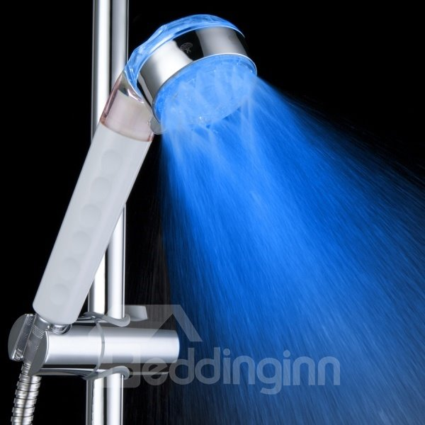 High Quality Three Types of Water Volume Color Changing by Temperature Shower  Faucet