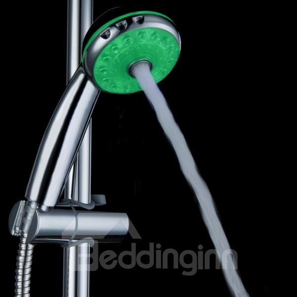 Three Types of Water Volume Temperature Control Three Colors Changing Shower Head