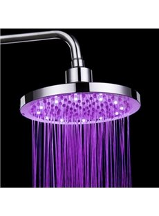 Circular LED Colors Changing by Temperature Shower Head Faucet