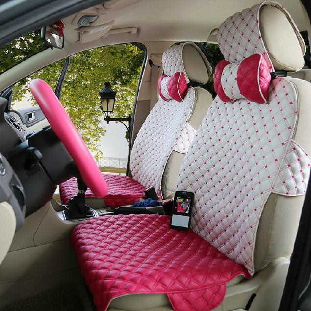 Simple Design Girly Pretty Cute And Lovely Leather Car Seat Cover Beddinginn Com