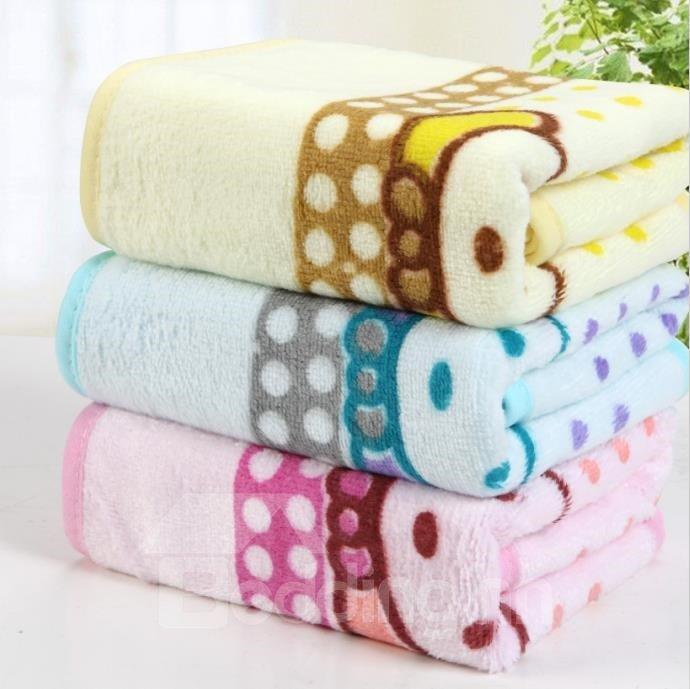Colored Comfortable Skin Care Printed Towel