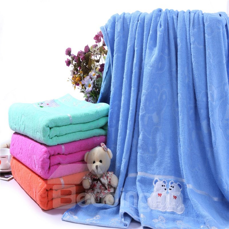 New Arrival High Quality Skin Care Embroidered Print Towelling Coverlet