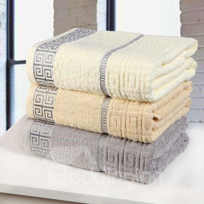 New Arrival 100% Cotton Skin Care The Great Wall Grid Bath Towel