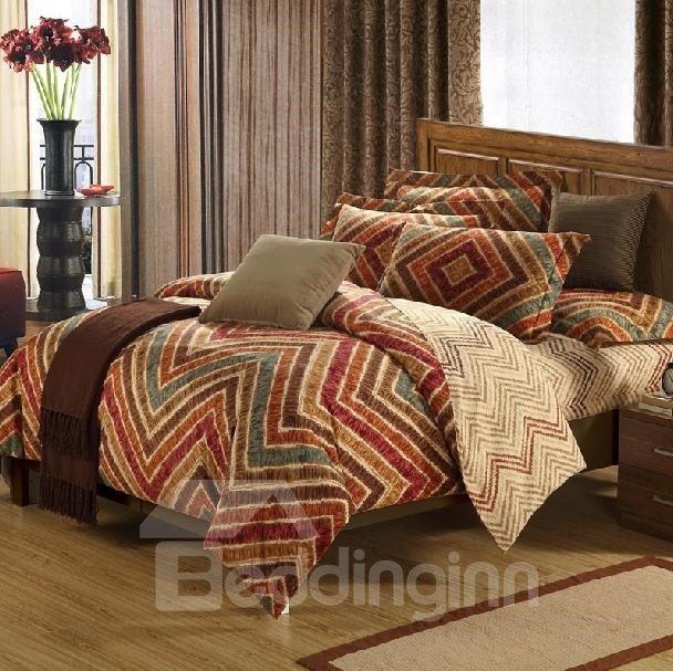 New Arrival 100% Cotton Thick Brushed 4 Piece Bedding Sets/Duvet Cover Sets
