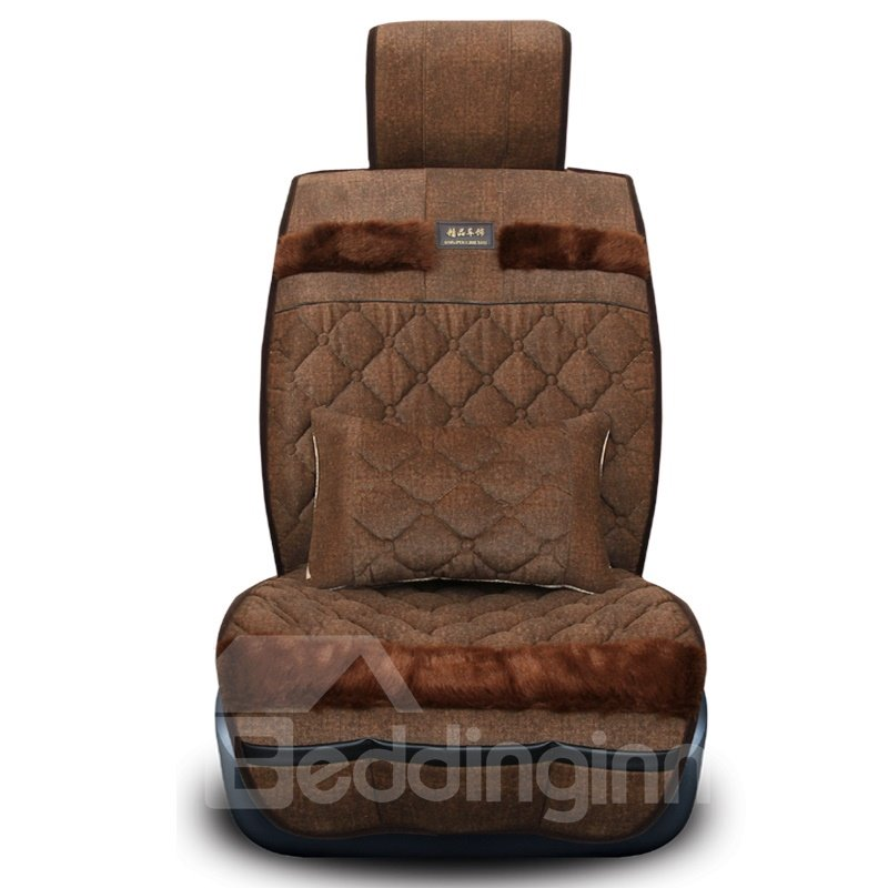 Gooes Down Feather Made With Trow Pillows Universal Car Set Covers